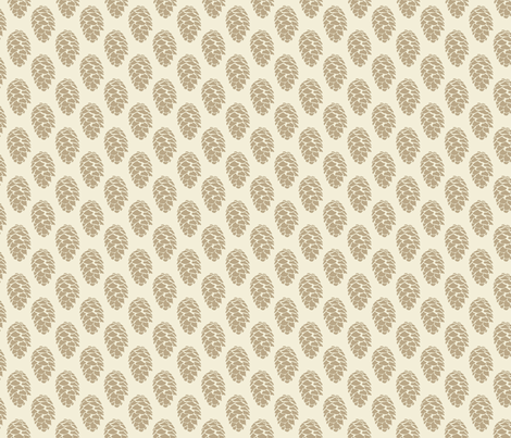 Mountain Wedding Pine Cone Tree Traditional_Miss Chiff Designs  fabric by misschiffdesigns on Spoonflower - custom fabric