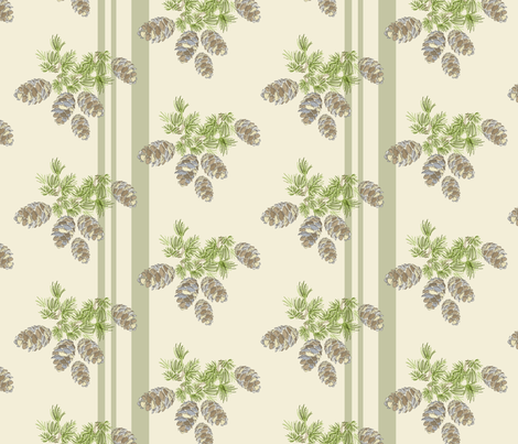 16-19H Sage Pinecone Stripe_Miss Chiff Designs fabric by misschiffdesigns on Spoonflower - custom fabric