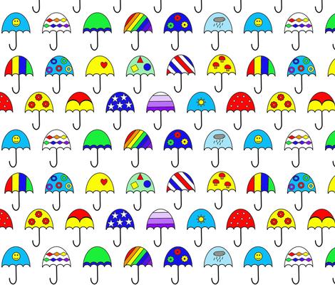 Umbrellas fabric by allykrapfl on Spoonflower - custom fabric