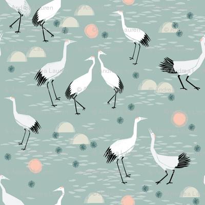 crane // japanese minimal bird nature