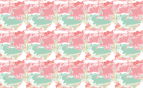 pink green white marble mint marble swirl marblelized fabric by jenlats on Spoonflower - custom fabric