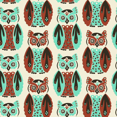Harbingers and Heralds - apple/mint fabric by rochelle_new on Spoonflower - custom fabric
