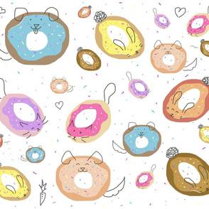 Doodled Donut Pets