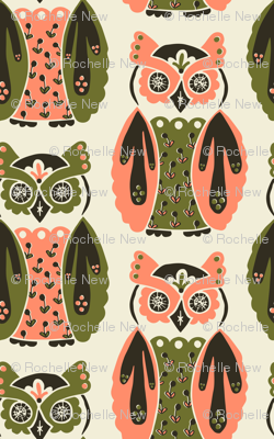 Harbingers and Heralds - salmon/olive