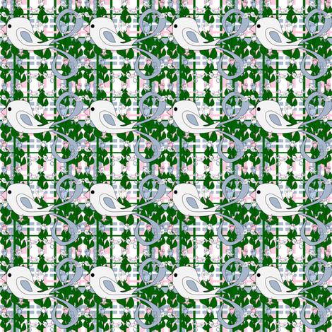 Susan Renee Gray Is Beautiful Victorian Birds Plaid Fabric #4 fabric by lworiginals on Spoonflower - custom fabric