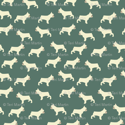 French Bulldog in Hunter Green
