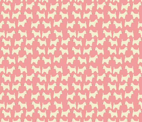 West Highland Terrier in Pink  fabric by vieiragirl on Spoonflower - custom fabric