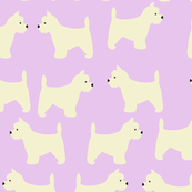 West Highland Terrier in Lavender