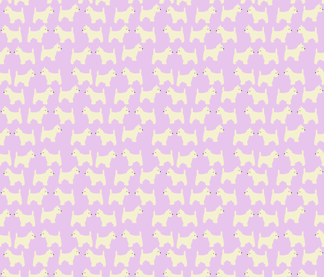 West Highland Terrier in Lavender  fabric by vieiragirl on Spoonflower - custom fabric