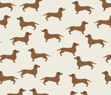 Dachshund  fabric by vieiragirl on Spoonflower - custom fabric