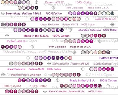 Selvedge Fabric - Purple - Large