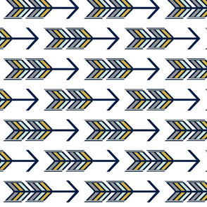 Arrow Multi Navy and Gold