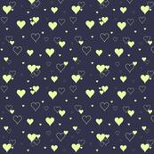Hearts yellow