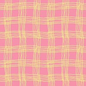 Spring plaid - small - pink/yellow