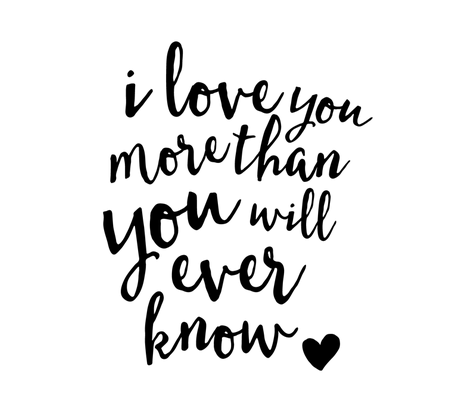 I love you more than you will ever know // Crib Sheet layout fabric by littlearrowdesign on Spoonflower - custom fabric