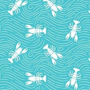 Lobster Teal Swirl