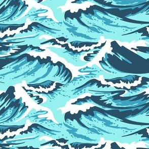 Ocean Waves Teal
