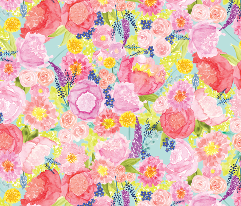 Spring Bea  fabric by themerrybutton on Spoonflower - custom fabric