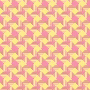 Spring check - large - pink