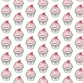 Pink cherry cupcake