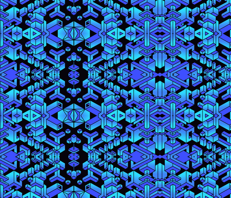 BlueBreakthrough fabric by steadylifted on Spoonflower - custom fabric