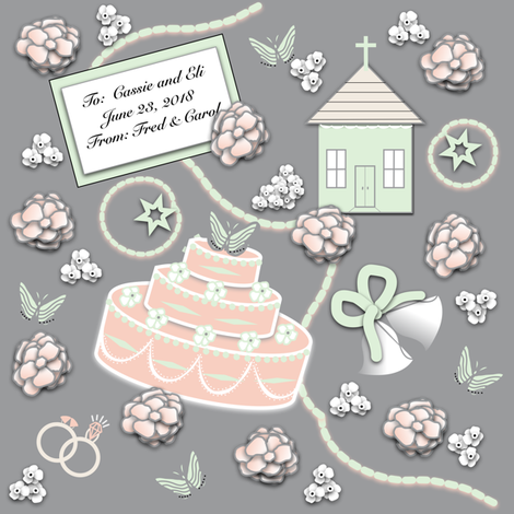 Going to the Chapel - Custom Gift Wrap  fabric by gargoylesentry on Spoonflower - custom fabric