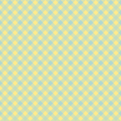 Spring check - small - blue fabric by strange_phenomena on Spoonflower - custom fabric