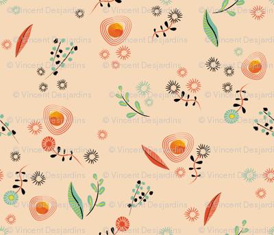 Brushstroke Flowers Coordinate