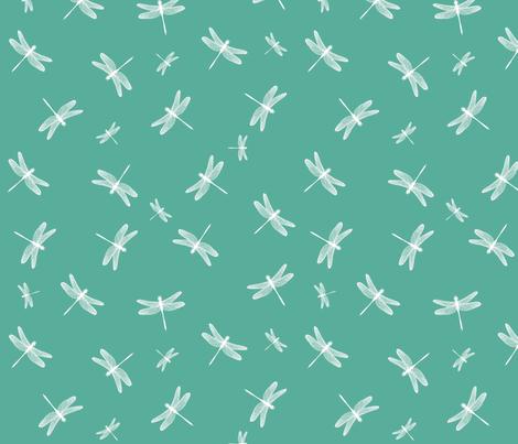 Dancing Dragonflies Seafoam fabric by bags29 on Spoonflower - custom fabric