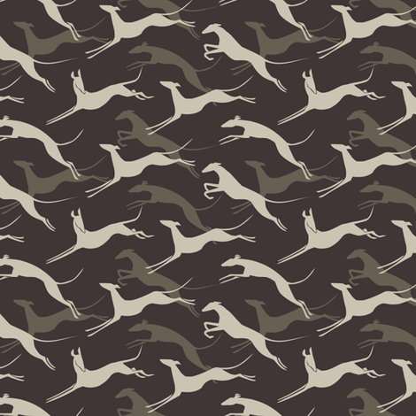 Jumping greys grey SMALL fabric by lobitos on Spoonflower - custom fabric