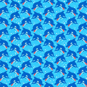 Leaping Dolphins Light Blue by Cheerful Madness!!