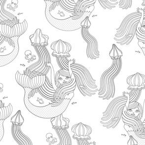 Mermaids with medusas