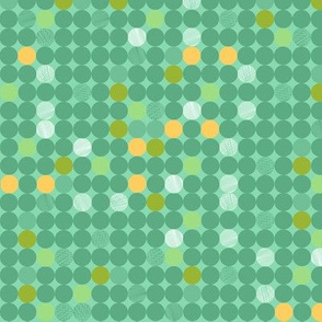 Dots in green