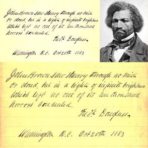 Dean's Frederick Douglass Portrait & Quote