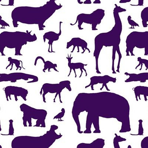African Animals - Purple