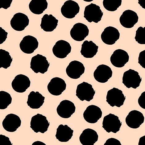 Spots on blush fabric by littlearrowdesign on Spoonflower - custom fabric