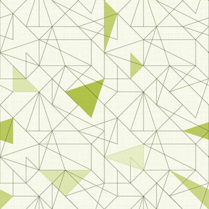 Triangles&lines (Olive)