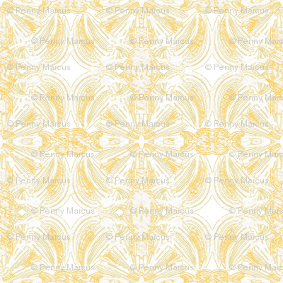 Pale Yellow and White Medallions