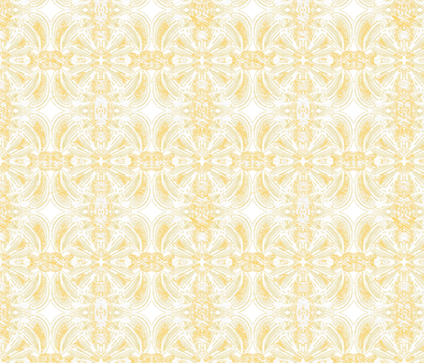 Pale Yellow and White Medallions  fabric by pwmarcus on Spoonflower - custom fabric