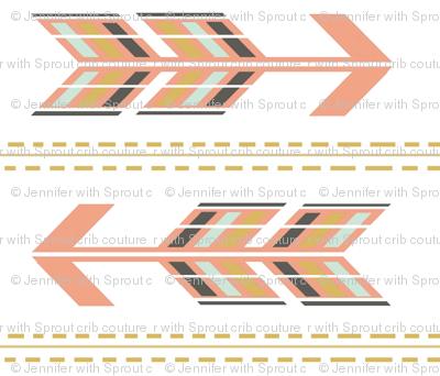 Arrows Multi Blush Stripe