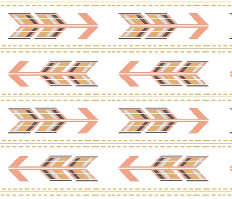 Arrows Multi Blush Stripe fabric by sproutz on Spoonflower - custom fabric