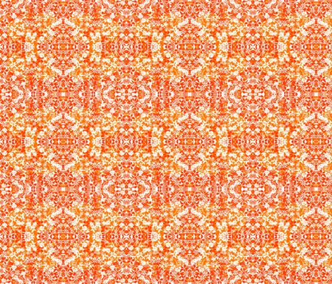 Orange Floral Pattern fabric by pwmarcus on Spoonflower - custom fabric