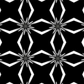 Mod Metallic Flowers on Black