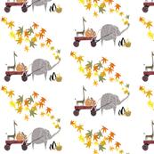 Sock Monkey, Giraffe, Elephant, Penguins - Friends on Parade