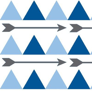 Blue Triangles and Arrows