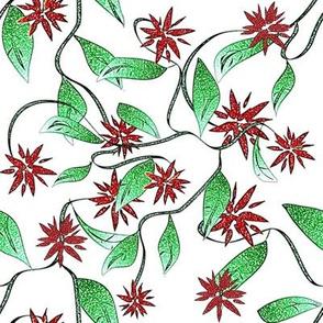 Red Vining Flowers