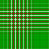 Dark Red and White Tattersall on Christmas Green