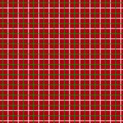 Green and White Tattersall on Dark Red