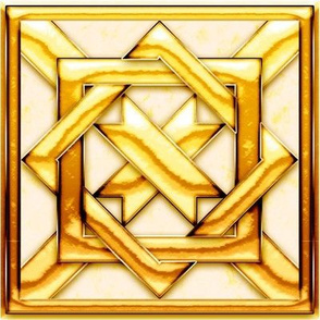 Marble Quilt Gold
