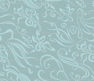 light grey art noveau squiggles